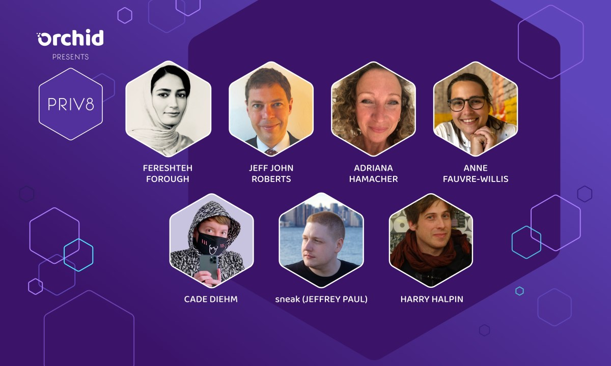 Final Speakers Announced for Orchid's Priv8 Virtual Privacy Summit